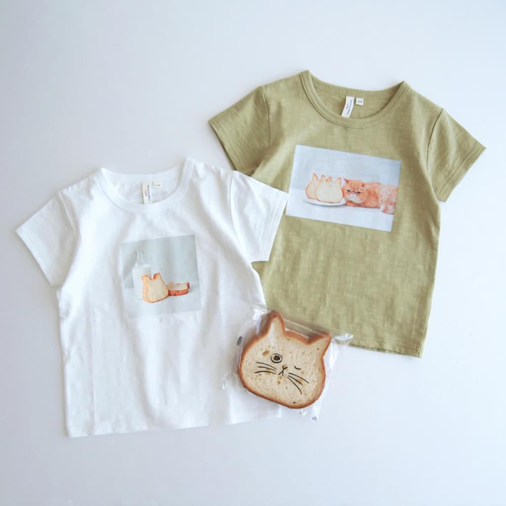 Samansa Mos2 × ねこねこ食パン フォトプリントTシャツ