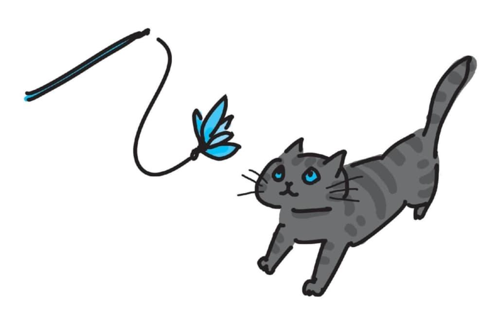 """『猫にいいこと大全』から意外に知られていない""""猫にいいこと""""3つをご紹介①猫に達成感を持たせて遊び終える"""