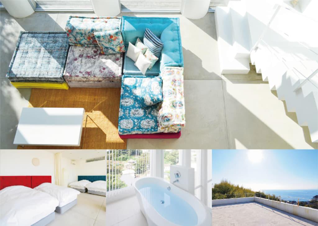海を見下ろす高台に建つ、貸別荘Ocean Terrace 南葉山