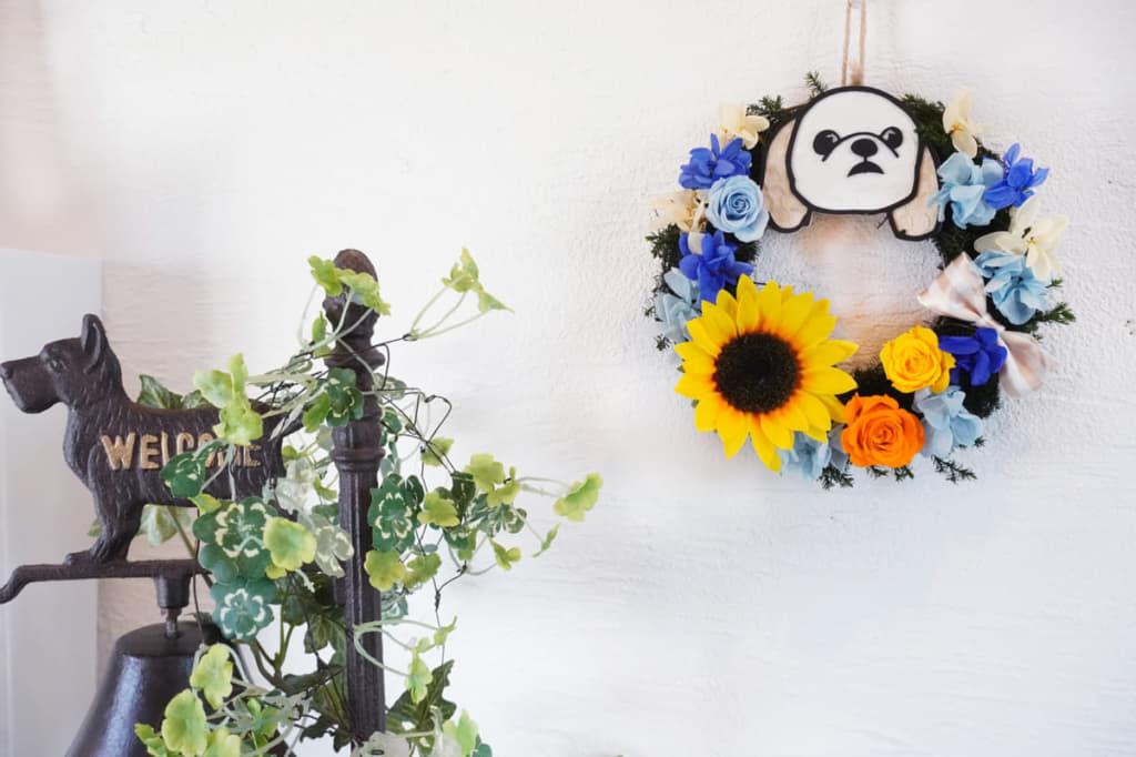 玄関に飾ればご家族やお客さまをかわいいペットが出迎えてくれます。