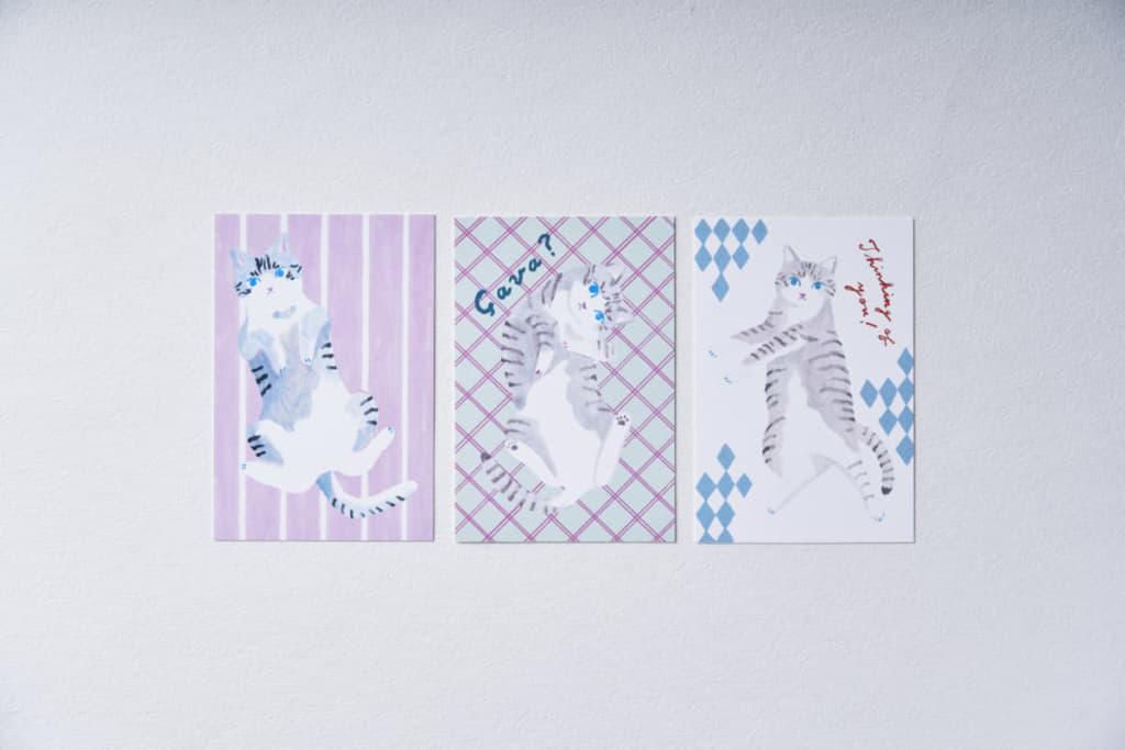 """前田ひさえさんが描く、心地の良い """"サバ美の#ズサァ""""! 飾っても送ってもたのしいポストカードに。"""